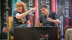 Hrvaška pesnica Majda Fradelić in Željko Perovič