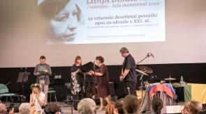 Podelitev velenjice-čaše nesmrtnosti 2020 Lidiji Dimkovski