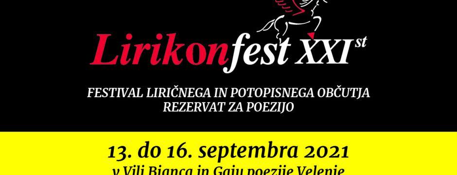 Jubilejni 20. Lirikonfest Velenje (2021), 13-15. september 2021